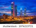 madrid  spain financial... | Shutterstock . vector #1076215721