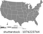 usa map vector outline with... | Shutterstock .eps vector #1076223764