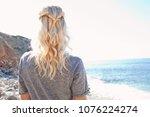 rear portrait view of nordic... | Shutterstock . vector #1076224274