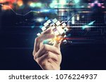 innovation in the digital world.... | Shutterstock . vector #1076224937