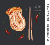 kimchi  translate from south...   Shutterstock .eps vector #1076227451
