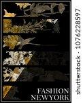 photo print fashion modern... | Shutterstock . vector #1076228597