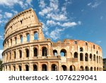 colosseum at sunset in rome ... | Shutterstock . vector #1076229041