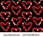 sequins seamless pattern.... | Shutterstock .eps vector #1076238101