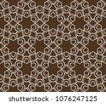 color seamless lace pattern... | Shutterstock .eps vector #1076247125