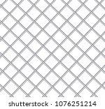 realistic metal prison grilles... | Shutterstock .eps vector #1076251214