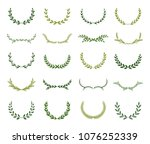set of different green... | Shutterstock .eps vector #1076252339