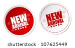 new arrival stickers | Shutterstock .eps vector #107625449