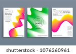color gradient liquid cover... | Shutterstock .eps vector #1076260961