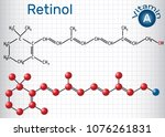 retinol  vitamin a  is in food... | Shutterstock .eps vector #1076261831