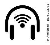 wireless audio headset   Shutterstock .eps vector #1076263781