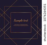 geometric golden lines on the... | Shutterstock .eps vector #1076264351