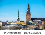 panoramic view on city in... | Shutterstock . vector #1076266001