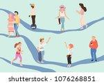 crowd of peoplevector... | Shutterstock .eps vector #1076268851