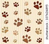dog's footprints seamless... | Shutterstock .eps vector #107626895
