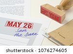 a red stamp on a document   may ...   Shutterstock . vector #1076274605
