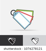 key tag vector icon flat design ... | Shutterstock .eps vector #1076278121
