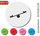 seesaw flat round colorful... | Shutterstock .eps vector #1076281139