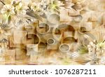 3d marble with circle... | Shutterstock . vector #1076287211
