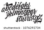 graffiti font isolated on white ... | Shutterstock .eps vector #1076292734
