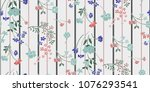 seamless floral pattern in... | Shutterstock .eps vector #1076293541