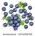 blueberries isolated on white... | Shutterstock . vector #1076298785