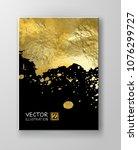 vector black and gold design...   Shutterstock .eps vector #1076299727