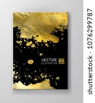 vector black and gold design... | Shutterstock .eps vector #1076299787