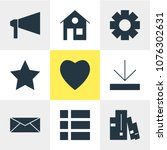 illustration of 9 web icons....