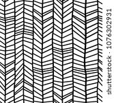 chevron pattern seamless hand... | Shutterstock .eps vector #1076302931