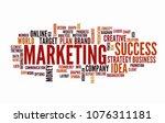 web marketing word cloud... | Shutterstock .eps vector #1076311181