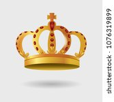 royal golden crown with... | Shutterstock .eps vector #1076319899