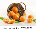 Fresh Apricots In The Basket O...
