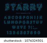 big data modern font on black... | Shutterstock .eps vector #1076324501