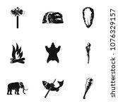 primitive icons set. simple set ... | Shutterstock .eps vector #1076329157
