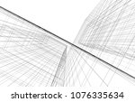 architecture 3d illustration | Shutterstock . vector #1076335634