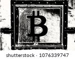 bitcoin on abstract background... | Shutterstock . vector #1076339747