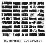 big set of rectangular text box.... | Shutterstock .eps vector #1076342639