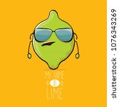 vector funny cartoon cute green ...   Shutterstock .eps vector #1076343269
