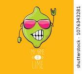 vector funny cartoon cute green ...   Shutterstock .eps vector #1076343281