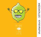 vector funny cartoon cute green ...   Shutterstock .eps vector #1076343284