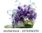 crystals of amethyst close up | Shutterstock . vector #1076346254