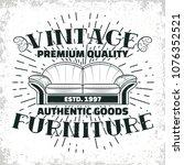 vintage furniture workshop logo ...   Shutterstock .eps vector #1076352521