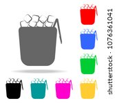 ice crockery icon. elements of... | Shutterstock .eps vector #1076361041