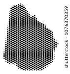 halftone hexagonal uruguay map. ... | Shutterstock .eps vector #1076370359
