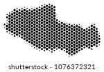 halftone hexagon tibet chinese... | Shutterstock .eps vector #1076372321