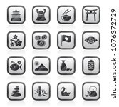 typical japan culture icons  ...   Shutterstock .eps vector #1076372729