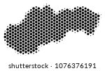 halftone hexagonal slovakia map.... | Shutterstock .eps vector #1076376191