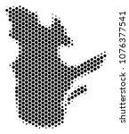 halftone hexagon quebec... | Shutterstock .eps vector #1076377541
