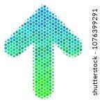 halftone round spot arrow... | Shutterstock .eps vector #1076399291